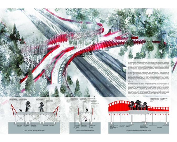 arc 国际野生动物廊道设计竞赛五强方案