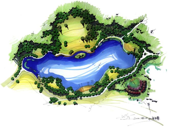 景观设计平面手绘表达示范