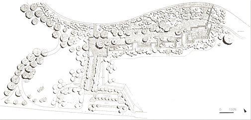 图17:华盛顿罗斯福纪念园平面图(the fdr memorial-p35)