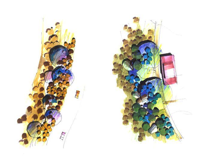 >>王劲韬老师考研手绘系列教学1 系列教学2——设计平面图例
