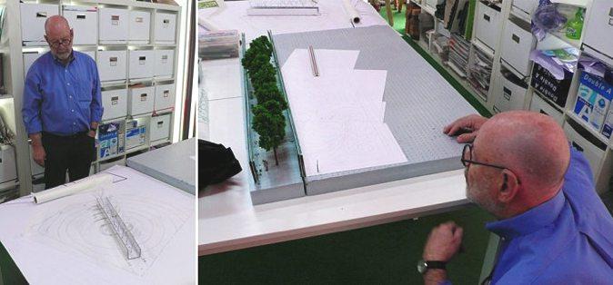 Peter Walker 的概念设计过程:草图-模型-草图-模型-草图……