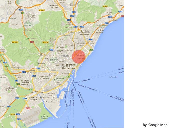 图2:22@区位于巴塞罗那的Glories区,地处巴塞罗那的核心区域。该区交通发达,著名的对角线大道穿行而过,拥有数公里的海岸线和泊船码头。相对于巴塞罗那的老城区,该区地势更为平坦,街道密度适宜,发展潜力巨大。
