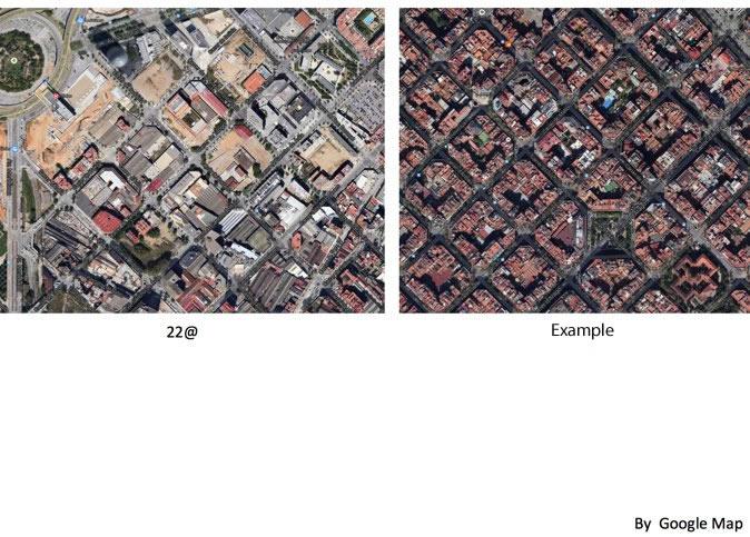 图4:由于历史上工业发展的缘故,该区的街道路网虽然与城市中的其他新老城区均为统一形式和尺度的网格街区,但街区内的建筑基本为工业的厂房、库房等,工业尺度的大空间建筑为主。