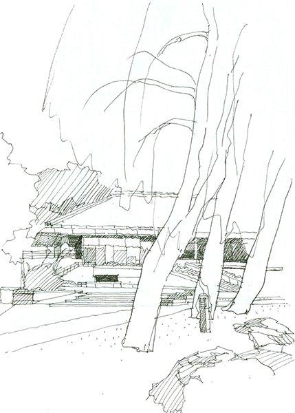 图1,1997年,中国北大,钢笔。