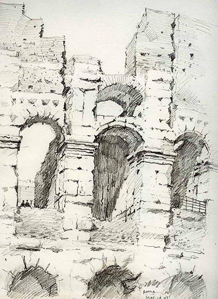 图4,2005年,意大利罗马,铅笔