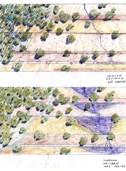 图3,平面研究,彩色铅笔,2007年