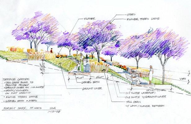 图5,断面研究,彩色铅笔,2007年