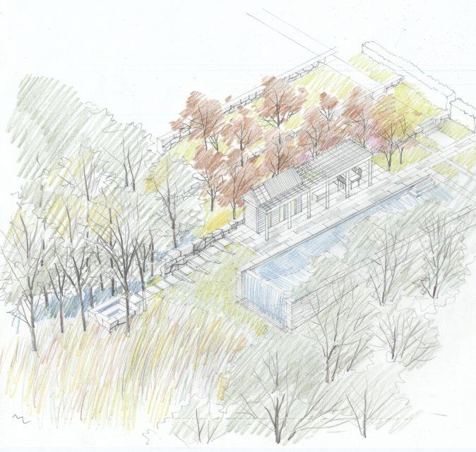 图8,空间研究,彩色铅笔,2006年