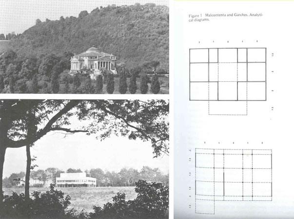 图2:柯布与帕拉迪奥的设计类比,引自Colin Rowe的the mathematics of the Ideal Villa一文