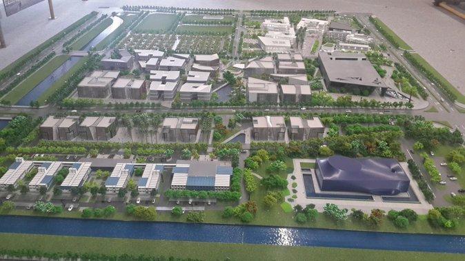 图10:前海万科地块模型 (摄影:范烨)