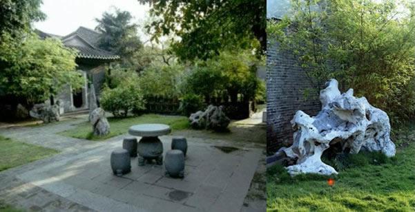 梁园的平庭散石与孤散石实景图
