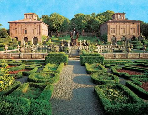 图6 兰特别墅花园所展示的心点透视场景