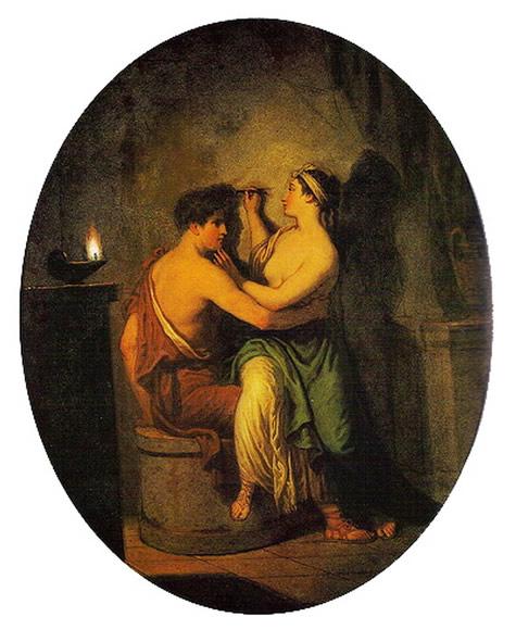 图13 绘画的起源,David Allan作于1775年