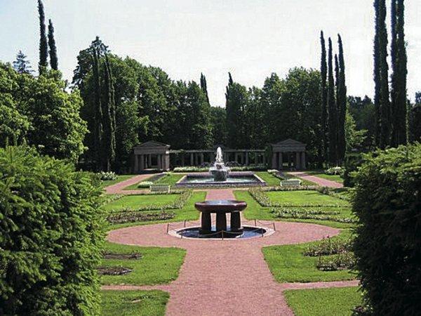长方形别墅私家花园菜地效果图