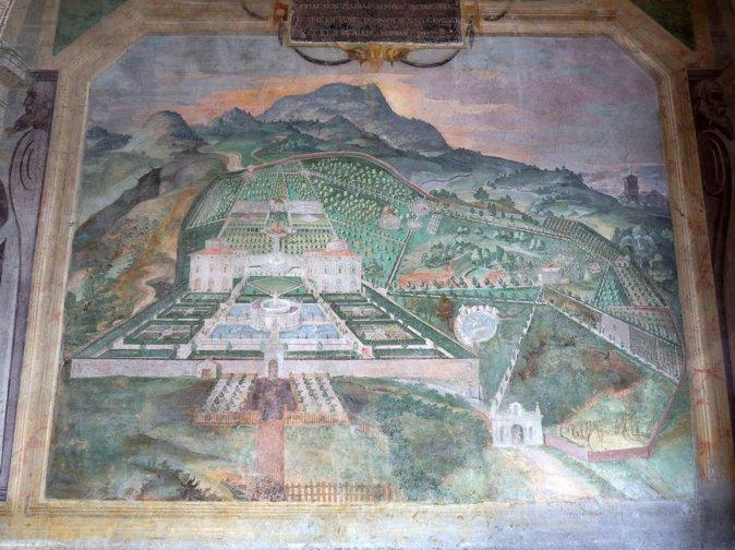 兰特庄园西侧别墅大厅内的壁画,画于1574-1578年