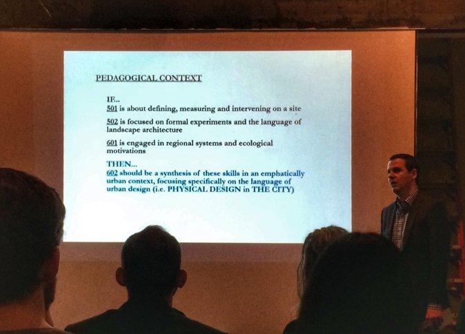 Pedagogical Context_Chris;Chris在602期末汇报时向客座教师介绍602与前三学期的关系。