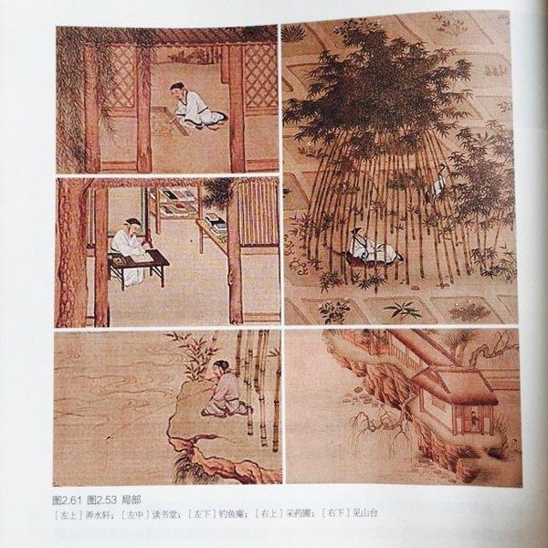明仇英,独乐园图局部(高居翰说此图有可能是仇英临摹的李公麟画作,亦有可能是仇英基于《洛阳名园记》和《独乐园记》,根据想象画就)。来源:高居翰等,《不朽的林泉—中国古代园林绘画》