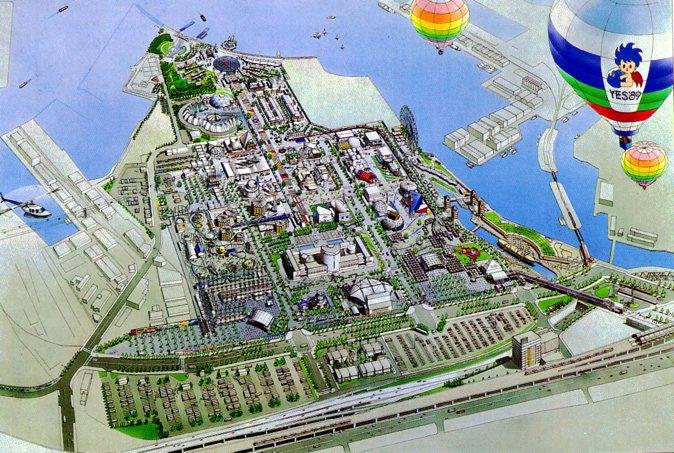 横滨国际博览会会场图