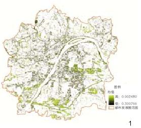 图1 武汉市都市发展区NDVI分布图