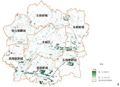 图4 武汉都市发展区LAI分区图