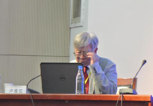 卢耀如院士在作有关生态园林的报告