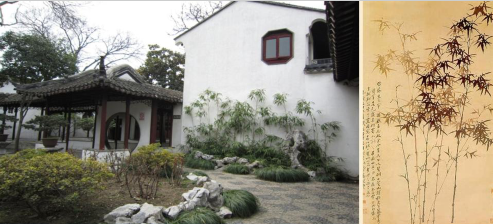 苏州怡园-竹子与建筑结合写意