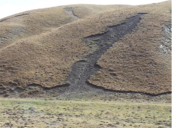 Image 9:过度放牧后的土地,甘肃   Source: Hajo Mader