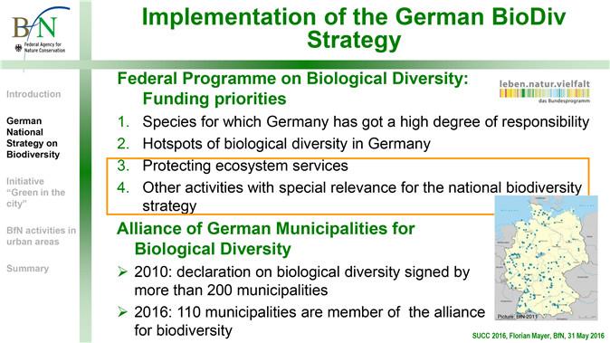 Image5:德国生物多样性战略 保护生态系统服务和其他与国家生物多样性战略具有特殊相关性的活动已被列入德国生物多样性战略中