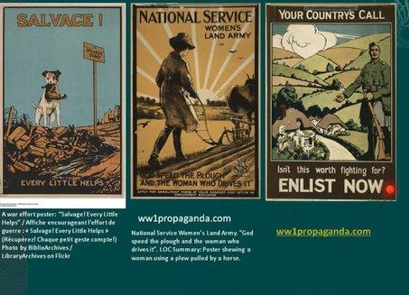 这三张是一战时期美国的宣传画,通过对景观,对城市场景的借用反映了对环境的认识。