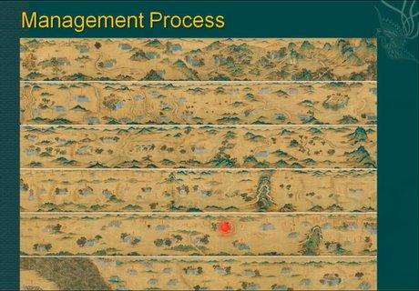 此为丝绸之路全图,政府借助从河西走廊一直往西的不同关隘的图像进行土地管理。