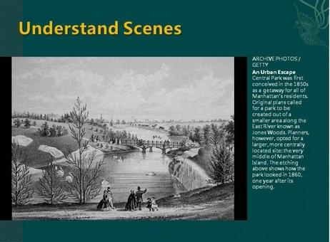 理解情景是指研究者需要把自己想象成图像中的人,去思考如何使用一些空间。