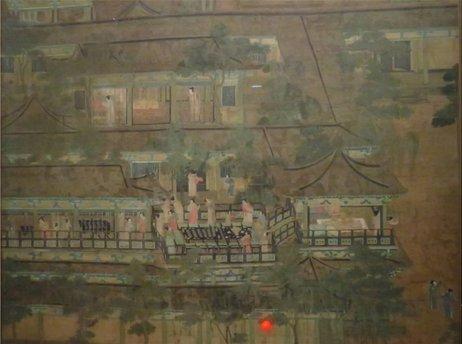 宋代的文人画《乞巧图》,描绘了唐代人乞巧节时的场景,但是从画里的亭台楼阁与植物关系,我们可以推测出宋代建筑与植物配置的特质。