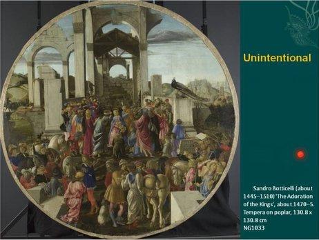 15世纪意大利画,描绘了圣母生子的场景,但是我们可以从中看出文艺复兴时期的街道风貌,建筑结构。