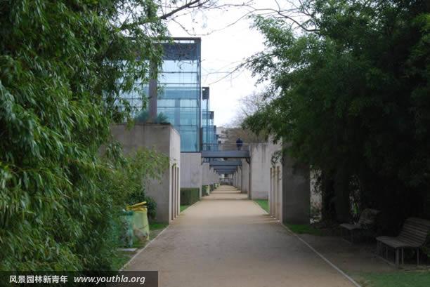图12 系列小温室与步道